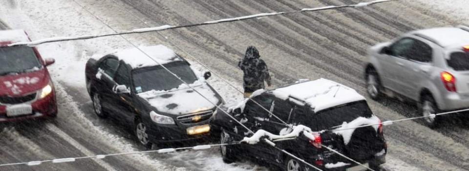 ütközés a hóban